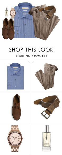 """""""men's clothes on polyvore?! :o"""" by lalatheawesome ❤ liked on Polyvore featuring MICHAEL Michael Kors, Trask, Nixon, Yves Saint Laurent, mens, men, men's wear, mens wear, male and mens clothing"""