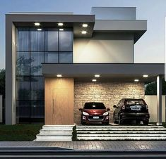Most 50 Beautiful House Design For 2020 Modern Exterior House Designs, Modern House Facades, Modern House Design, House Outside Design, House Front Design, House Architecture Styles, Model House Plan, Home Building Design, Bungalow House Design
