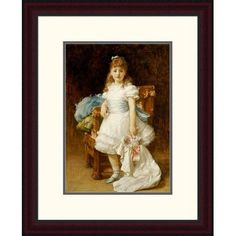 """Global Gallery 'Lady Sybil Primrose' by Lord Frederick Leighton Framed Painting Print Size: 24"""" H x 19.24"""" W x 1.5"""" D"""