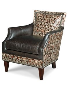 The Tandy Chair By Bradington Young, Showcasing Barbarossa Leathers Corona  Pattern.