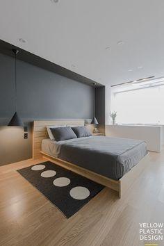 로프트(loft) 감성이 깃든 외국같은집 위치:서울 양천구 목동 주거형태: 주상복합 면적: 184m2 (57평형) 가... Dream Bedroom, Home Bedroom, Home Living Room, Master Bedroom, Bedroom Decor, Contemporary Bedroom, Modern Bedroom, Bed Furniture, Minimalist Home