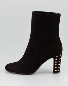 GUCCI Jacquelyne Stud-Heel Boot, Black - Neiman Marcus