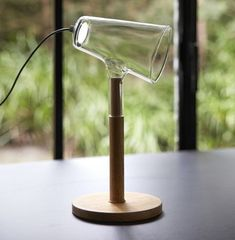 LED wood and glass table lamp THE SIBLINGS | Table lamp by PER-USE