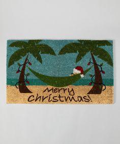 Tropical Christmas Door Mat
