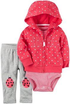 Conjuntos-de-Cardigan-Carters-Bebe-Ninas-121h247-Rojo-bebe-3-6-meses