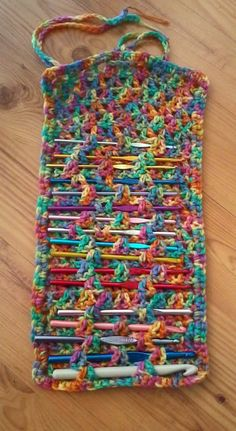 Crochet Hook Case   I finally got tired of emptying all of my crochet hooks out ofthe box I keep them in and going through them one by o...