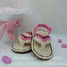 Baby flip flops crochet
