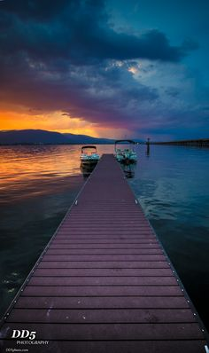 Lake shore drive, Sandpoint Idaho storm sunset