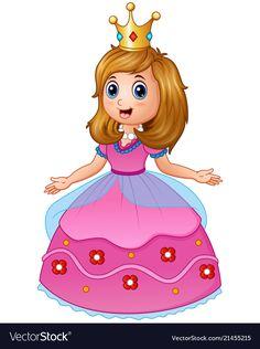8a836d074 Beautiful princess in pink dress Royalty Free Vector Image Free Vector  Images, Vector Free,