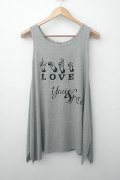 LOVE Hand Sign You & Me Text  Women Singlet  Tank by simladytshirt, $16.99