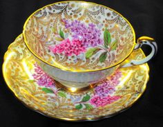 PARAGON-ONE-SET-GRAND-GOLD-CHINTZ-TEA-CUP-AND-SAUCER