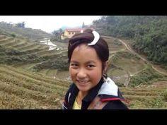 Beautiful H'mong girl with long-hair in Sapa, Vietnam