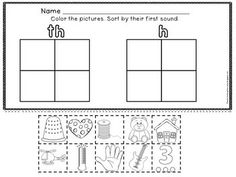 DIGRAPHS : TH VERSES SH, CH, WH - Digraph Worksheets: fun, kid-friendly clipart based on their first or final digraph sound. Each page is double-sided as the reverse of each page features a tracing font for the digraphs on the front.