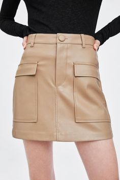 FAUX LEATHER MINI SKIRT - Item available in more colors