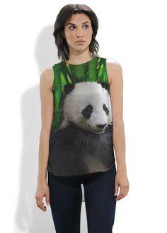PANDA Sleevless Silk Top take 20%off with code VIDAVOICES #tops, #blouse, #silk, #fashion, #women, #panda