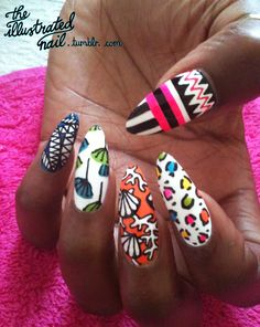 ring finger nail.