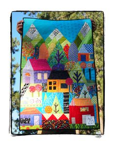 from Valori Wells Designs - quilt made by an employee for a challenge __Love this landscape