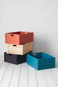 4040 Locust Vinyl Record Storage Crate - Urban Outfitters  Great for toys $34.99 each