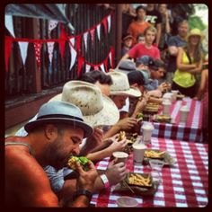 Burger-eating competition. #BangalowShow2013 | Flickr - Photo Sharing!