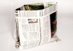 How to fold a newspaper into a biodegradable bag