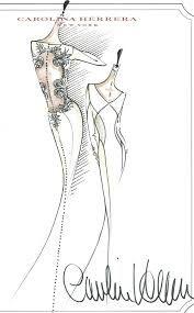 bocetos vestidos de novia carolina herrera - Buscar con Google
