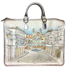 f76837429174 Gucci White Limited Edition Roma Design Large Bag. Pure Class! Gucci  Monogram