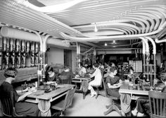 """Before email intranets and """"private clouds"""" there were pneumatic tube rooms for sending messages and whatnot around companies. Photo circa 1925. [917x649]"""
