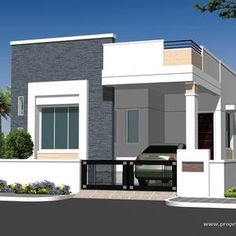 Individual House Elevation P L Plan Andhra Pradesh Style Ranch Elevations Drawings . Single Floor House Design, Bungalow House Design, House Front Design, Small House Design, Cool House Designs, Modern House Design, Bungalow House Plans, Modern House Plans, Small House Plans