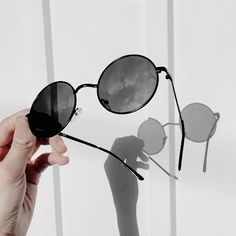 Find images and videos about style, black and aesthetic on We Heart It - the app to get lost in what you love. Black And White Aesthetic, Aesthetic Colors, Jolie Photo, Cat Eye Sunglasses, Round Sunglasses, Instagram Feed, Monochrome, Colours, Aesthetics