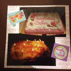 Happy 26th Birthday: Page 2: This is a 8 by 8 scrapbook page with birthday themed paper and stickers.