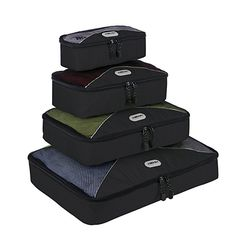 ORICSSON 4 Pieces Ultra Light Travel Packing Cubes Set Organizers and Compression Pouches System for Carryon Luggage Accessories Suitcase and Backpacking Black *** Check out the image by visiting the link. Best Luggage, Luggage Sets, Packing Cubes, Travel Packing, Luggage Reviews, Lightweight Luggage, Suitcase Bag, Luggage Accessories, Travel Organization