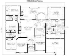 I love this house layout! Open floor plan, split plan, jack-n-Jill ...
