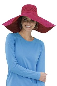 Coolibar Women's Shapeable Poolside Sun Hat UPF 50. Great color!!