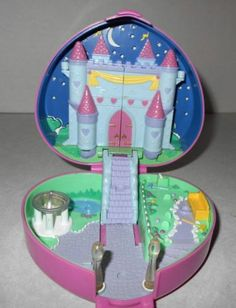 Vintage Polly Pocket Starlight Castle Heart Play Set | eBay