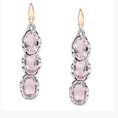 Tacori raindrop rose amethyst earrings
