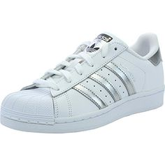 Adidas Originals Superstar White Leather 5.5 B(M) US Women ** Details can be found by clicking on the image.