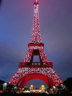 #Crimson Eiffel Tower #ColoroftheWeek 9/2/2013