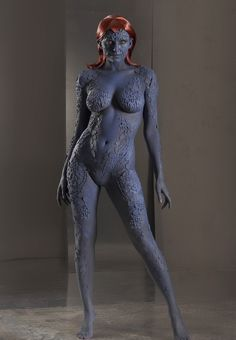 Mystique (Body Paint) Cosplay by Sam Cooke. Body Painting by Getmadeup