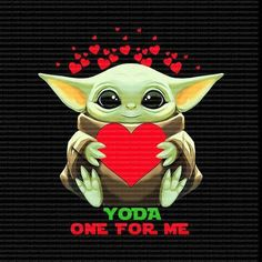 My Funny Valentine, Valentines Day Memes, Valentines Art, Yoda Pictures, Yoda Images, Diy Christmas Gifts For Boyfriend, Boyfriend Crafts, Yoda Png, Yoda Drawing