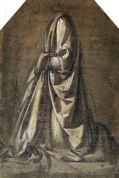 Leonardo da Vinci - Drapery study for a kneeling figure seen in three-quarter… Fine Art Prints, Framed Prints, Poster Prints, Canvas Prints, Drapery Drawing, Fabric Drawing, Albrecht Dürer, Drawing Studies, British Museum
