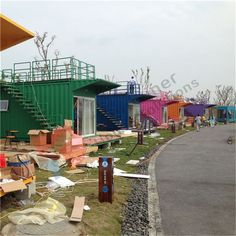 Shipping container house camp