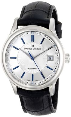 Men watches : Maurice Lacroix Men's LC6027-SS001-133 Les Classiques Analog Display Swiss Automatic Black Watch