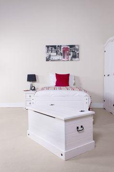 Storage Trunk | Premium Corona White Wash Bedroom Furniture | Shabby Chic
