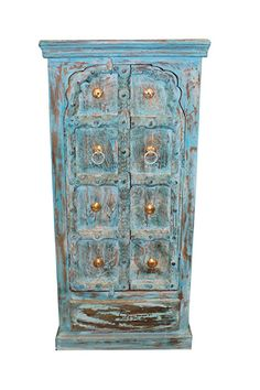 Indian Antique Hand Carved Wooden Cabinet with front 2 door two-shelf cabinet for plenty of storage, this is the perfect piece for your bedroom. unique style and design to your home interior.beautiful and amazing cabinet. Distressed Wood Furniture, Antique Furniture, Kitchen Furniture, Diy Furniture, Vintage Wood, Vintage Antiques, Vintage Kitchen, Antique Wood, Jaipur