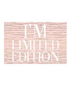 Look at this 'Limited Edition' Print on #zulily today!