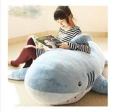 What's cuddlier than a shark? 21 Ways To Prep Your Home And Family For Shark Week Shark Stuffed Animal, Cute Stuffed Animals, Shark Bedroom, Shark Nursery, Ocean Nursery, Shark Pillow, Cushions On Sofa, Throw Pillows, Shark Plush