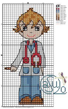 #gráfico ponto cruz #ponto cruz #médico
