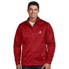 Men's Antigua Alabama Crimson Tide Waterproof Golf Jacket, Size: Large, Dark Red
