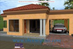 Overall Dimensions- x 2 Car Garage Area- Square meters Free House Plans, House Layout Plans, House Layouts, House Floor Plans, Single Storey House Plans, Tuscan House Plans, Minimal House Design, Flat Roof House, 2 Bedroom House Plans