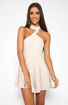 Around The Clock Playsuit - Beige from Peppermayo.com